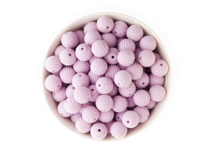 Korálky silikonové 15mm (1ks) - purple