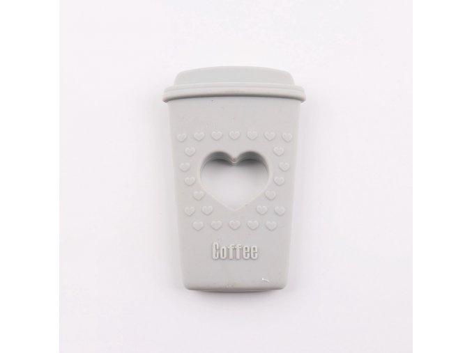 Kousátko silikonové COFFEE (1ks) - gray