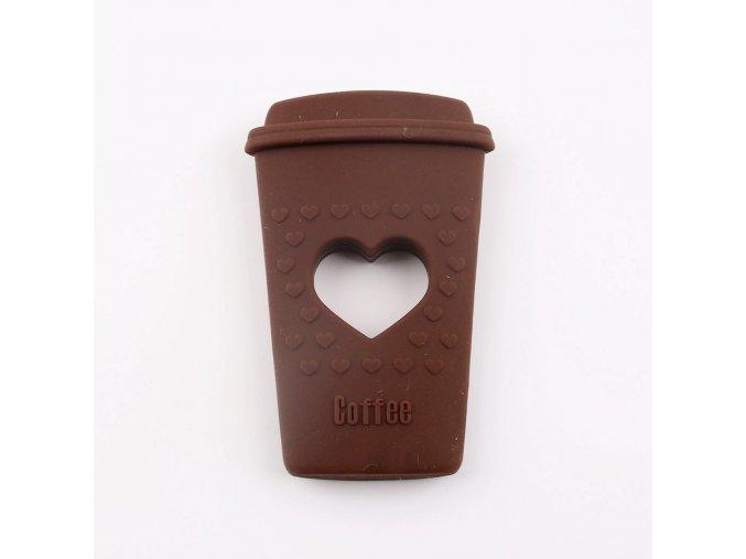 Kousátko silikonové COFFEE (1ks) - brown