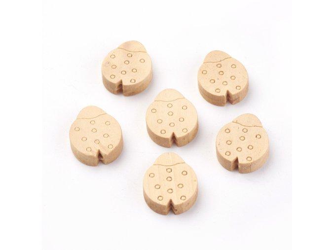 Dřevěné korálky BERUŠKY 20mm (10ks)