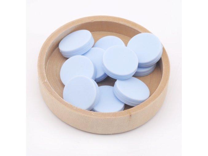Silikonové korálky placka 20mm (1ks) - candy blue