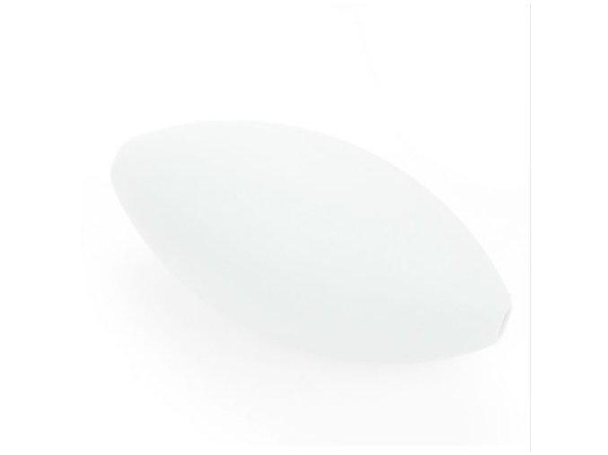 Silikonové korálky RUGBY 39x19mm (1ks) - white