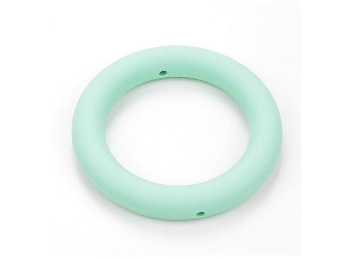 Silikonový kroužek 65mm (1ks) - mint