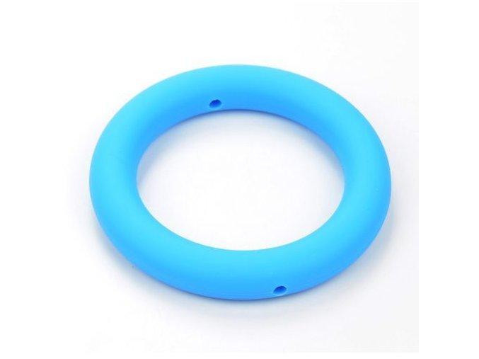 Silikonový kroužek 65mm (1ks) - sky blue
