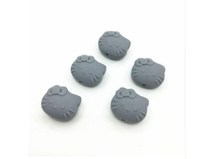 Silikoná HELLO KITTY 25mm (1ks) - grey