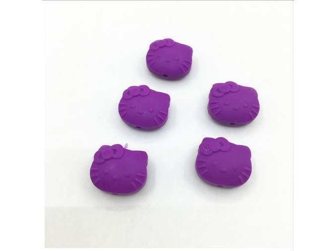 Silikoná HELLO KITTY 25mm (1ks) - purple