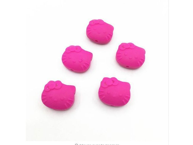 Silikoná HELLO KITTY 25mm (1ks) - hot pink