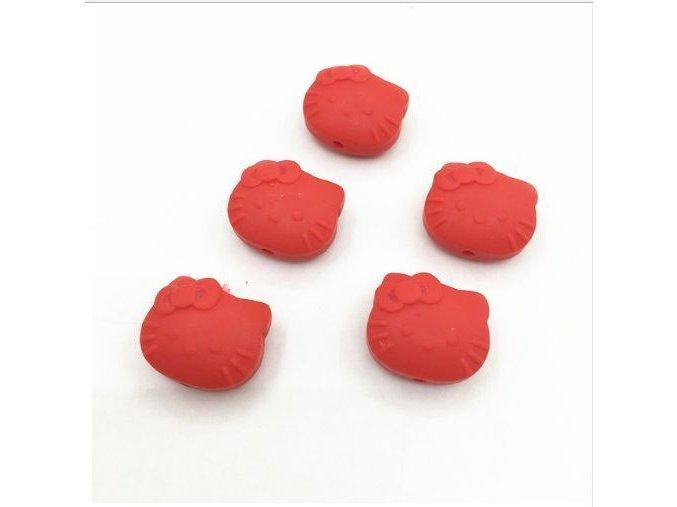 Silikoná HELLO KITTY 25mm (1ks) - red