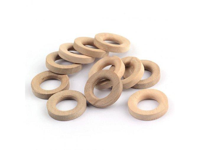 Dřevěný kroužek 20mm (10ks)