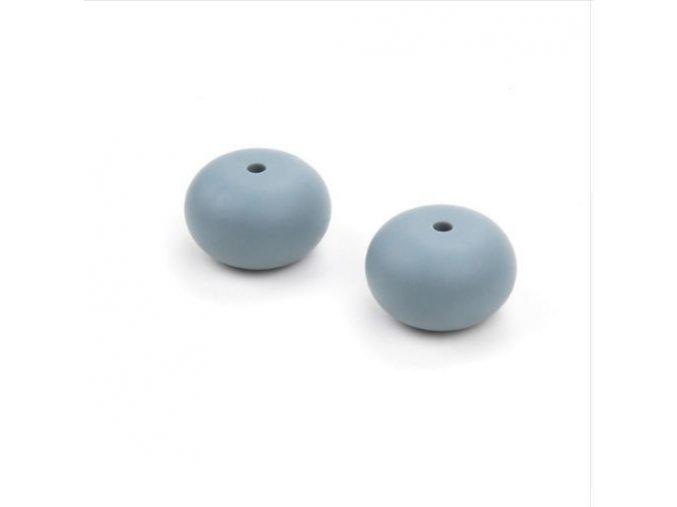 Silikonové korálky LENTILKY 25mm (1ks) - šedá