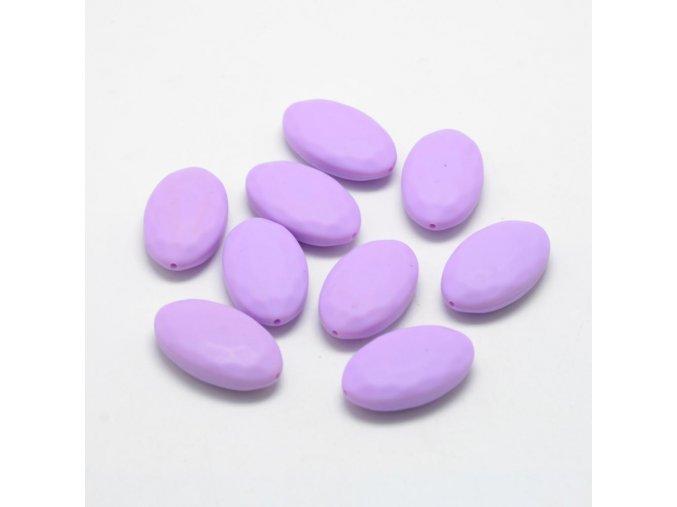 Silikonový oválek 30x18x8mm (1ks) - Purple