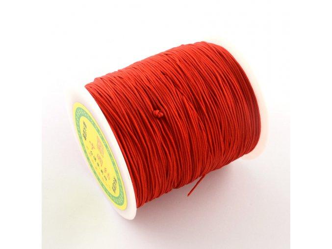 Nylonová šňůrka pr.1mm (10m) - Red