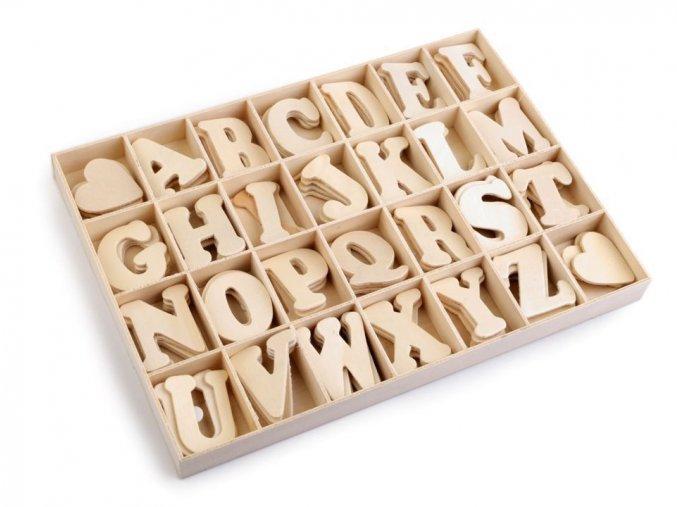 Samolepící dřevěná písmena