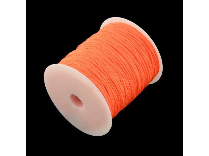 Nylonová šňůrka pr.1mm (10m) - neon oranžová