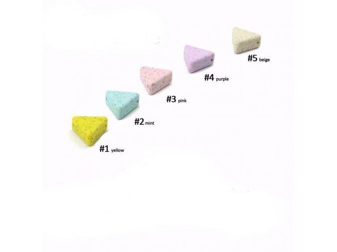 Kousátko silikonové trojúhelník 22mm(1ks) pink