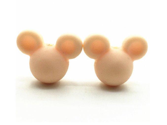 Korálky MickeyMouse 2cm - (1ks) - coral pink