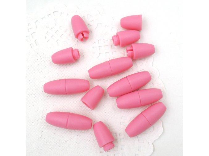 Plastové zapínání 5x20mm (5sad) - růžová
