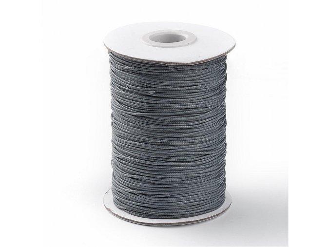 Šňůra voskovaná pr.1mm (10m) - tm.šedá