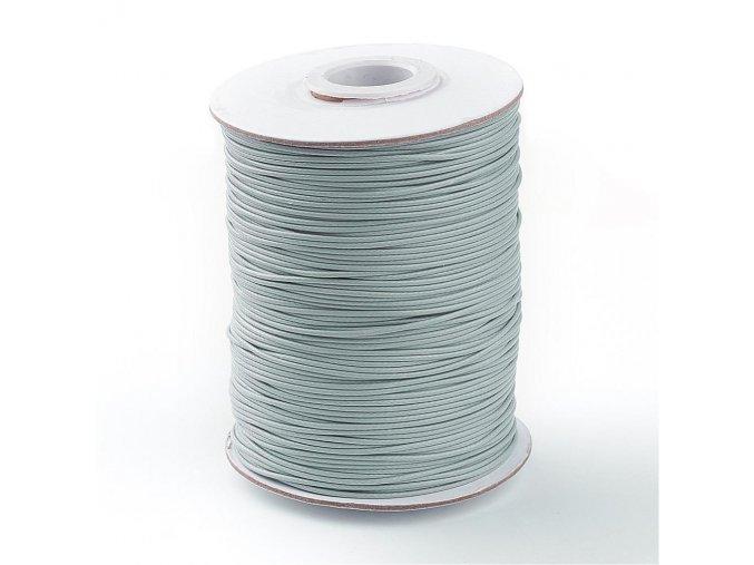 Šňůra voskovaná pr.1mm (10m) - sv.šedá