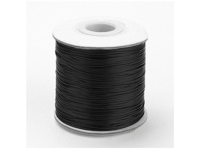 Šňůra voskovaná pr.0,5mm (10m) - černá