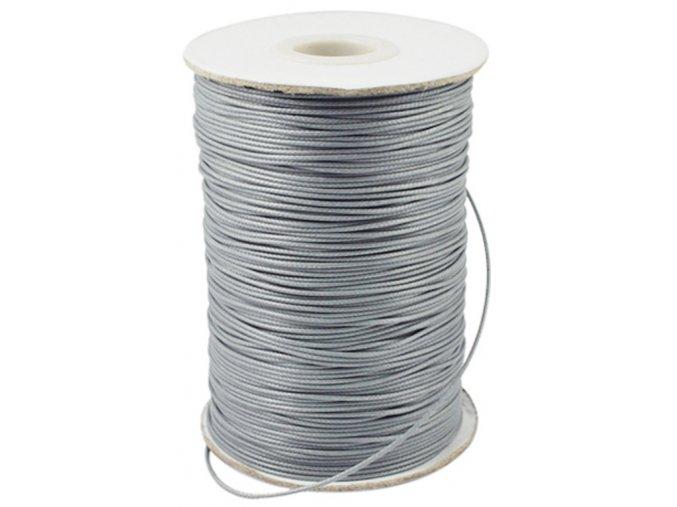 Šňůra voskovaná pr.0,5mm (10m) - sv.šedá
