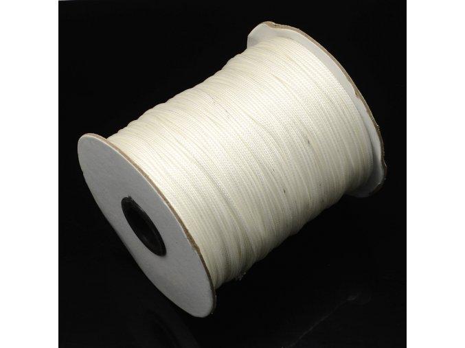 Šňůra voskovaná pr.3mm (1m) - bílá