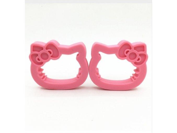Kousátko silikonové - HELLO KITTY (1ks) - růžová