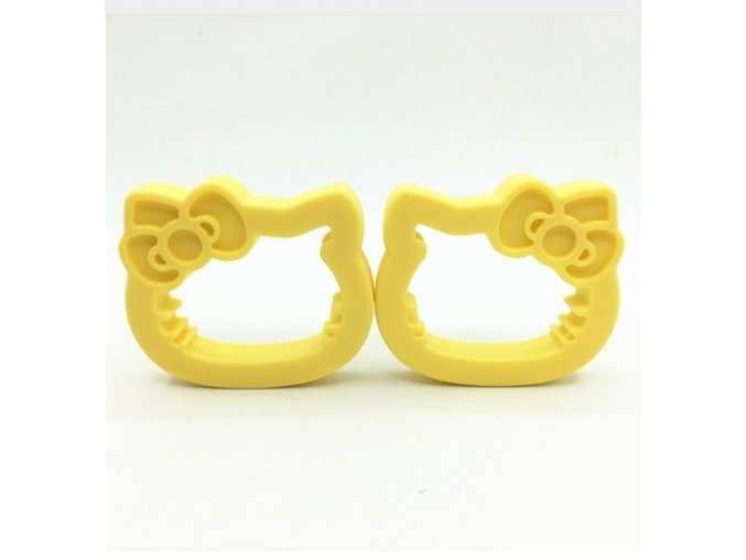 Kousátko silikonové - HELLO KITTY (1ks) - žlutá