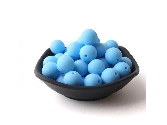 Silikonové korálky 20mm (1ks) - sky blue č.15