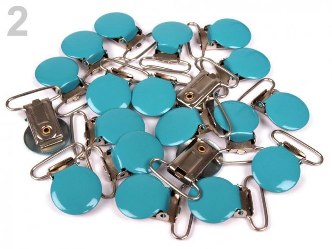 Klip na dudlík 25mm (1ks) - modrá