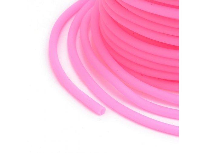 Dutinka silikonová pr.2mm (1m) - růžová