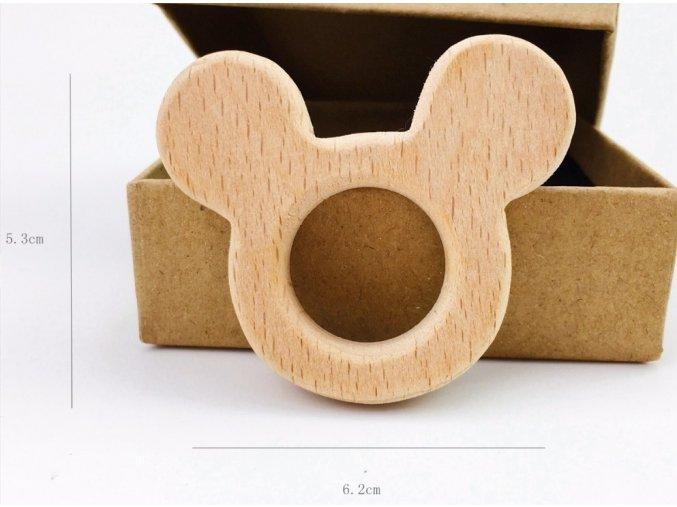 Dřevěné kousátko 62mm (1ks) - MickeyMouse
