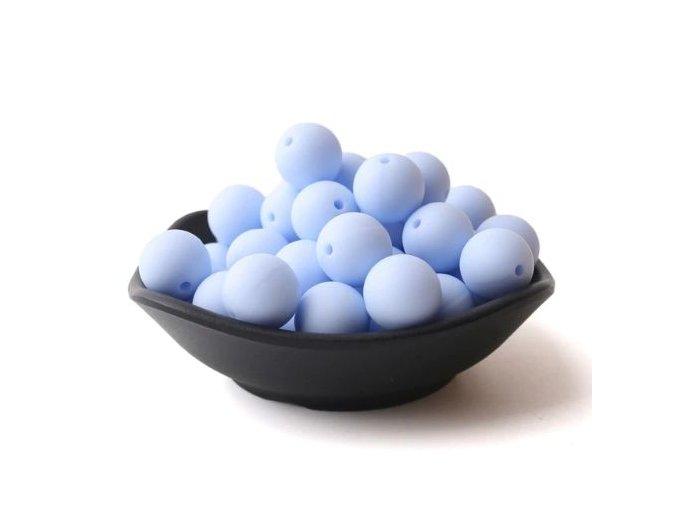 Silikonové korálky 20mm (1ks) - candy blue č.20