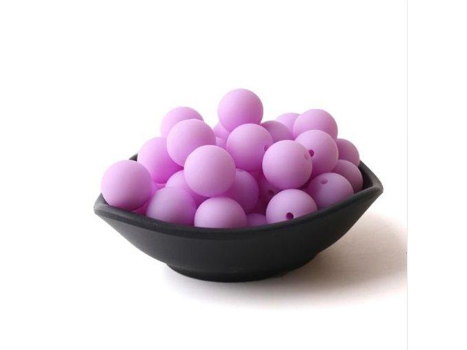 Silikonové korálky 20mm (1ks) - purple č.16