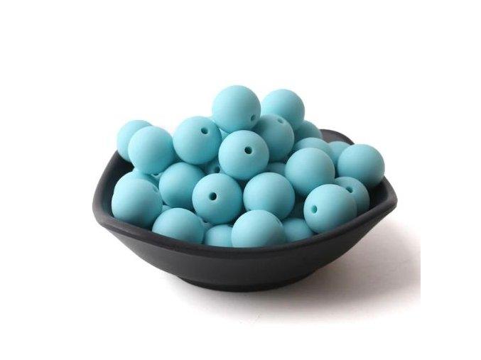 Silikonové korálky 20mm (1ks) - blue č.14