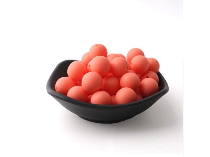 Silikonové korálky 20mm (1ks) - orange č.6