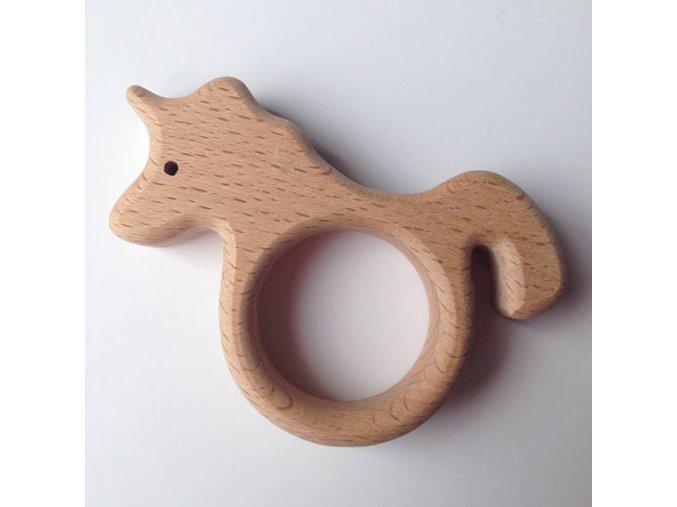 Dřevěné kousátko 80mm (1ks) - unicorn