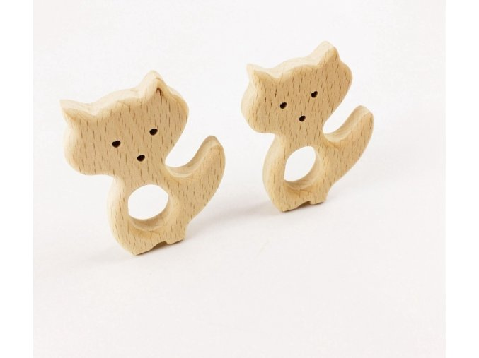 Dřevěné kousátko 80mm (1ks) - LIŠKA