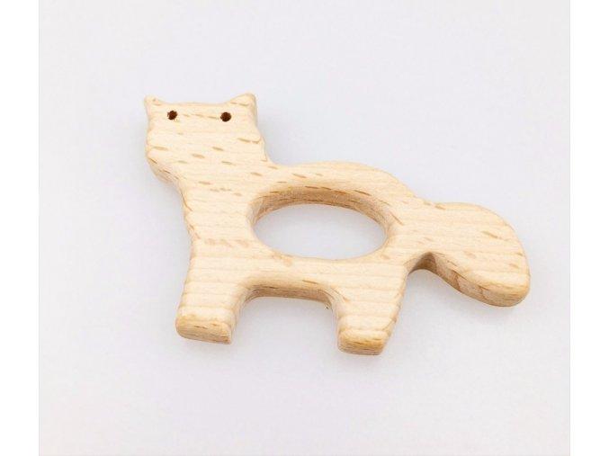 Dřevěné kousátko 80mm (1ks) - kočička