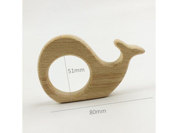 Dřevěné kousátko 80mm (1ks) - velryba
