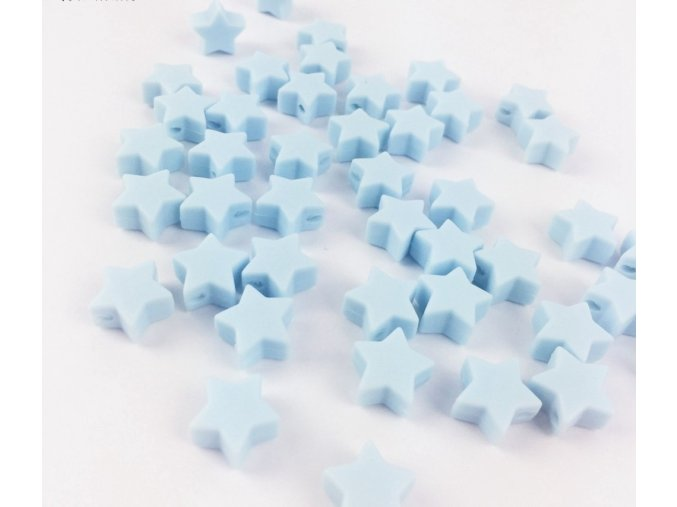 Silikonové hvězdičky 12mm (2ks) - light blue