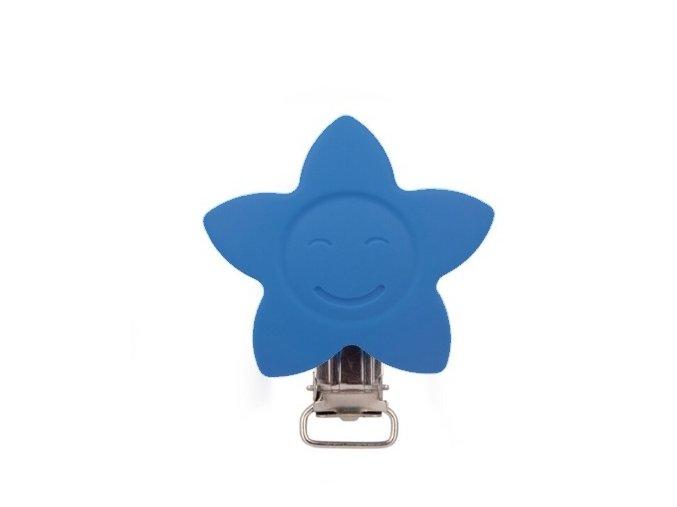 Klip silikonový HVĚZDA 4cm (1ks) - deep blue