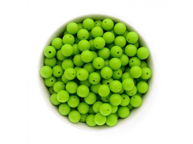 Silikonové korálky 12mm (10ks) - zelená