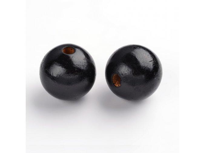 Dřevěné korálky pr.30mm (4ks) - Black