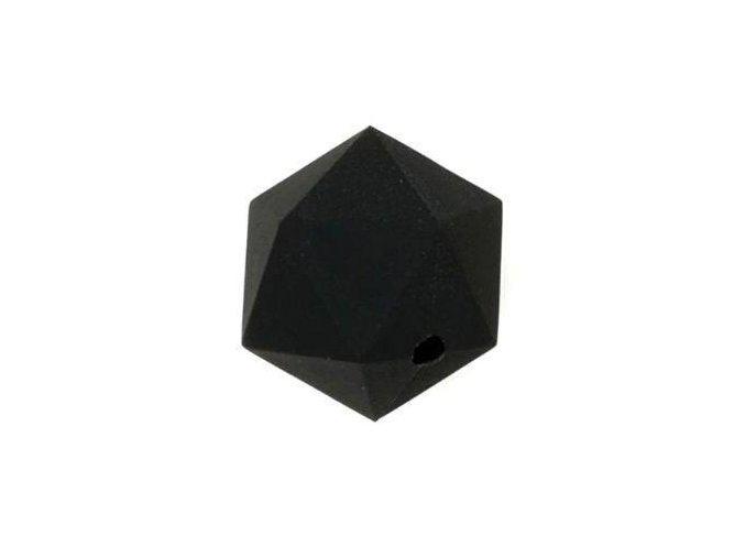 Silikonové korálky OCTAGON 20mm (1ks) - black