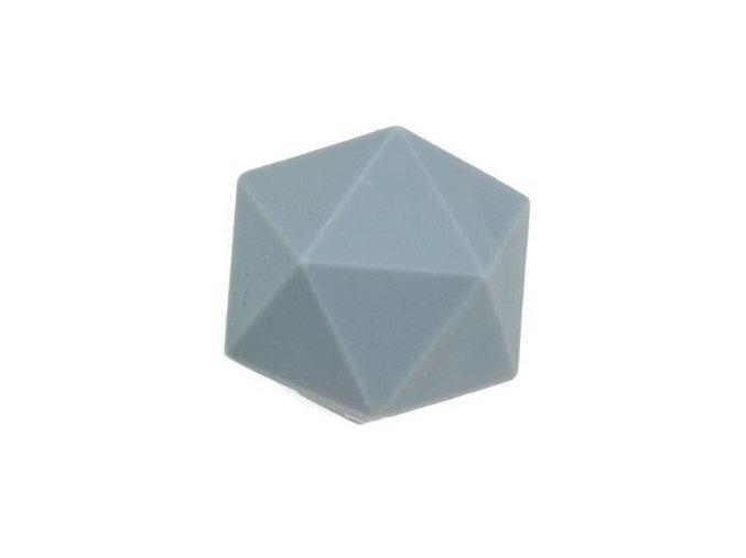 Silikonové korálky OCTAGON 20mm (1ks) - grey