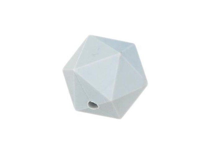 Silikonové korálky OCTAGON 20mm (1ks) - light grey