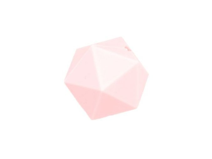 Silikonové korálky OCTAGON 20mm (1ks) - rose