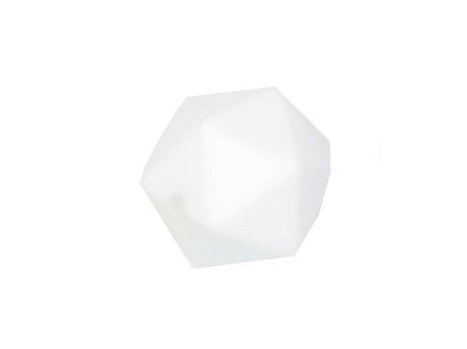 Silikonové korálky OCTAGON 20mm (1ks) - white