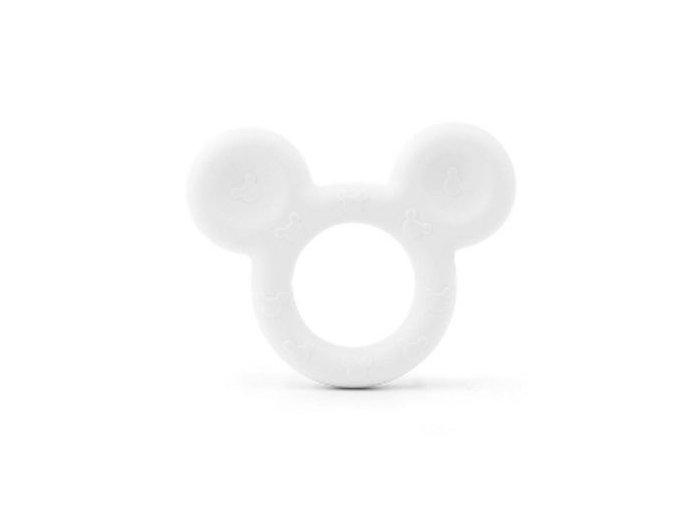 Kousátko silikonové MICKEY 80mm (1ks) - white